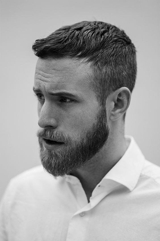 Short Hairstyles for Men with Beard
