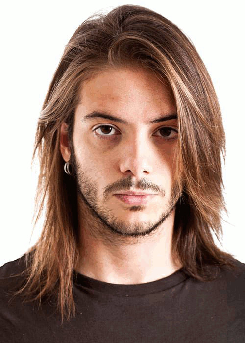 Rock Star Long Hairstyle for Men