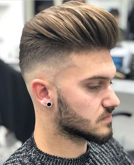 Good Slick Back Taper Fade Haircut