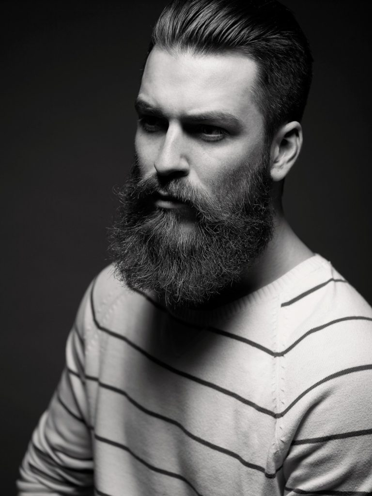 Short to Medium Haircut With Imperial Beard