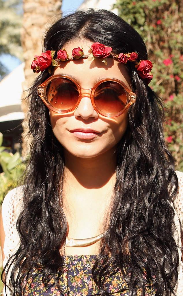 Vanessa Hudgens Coachella Hairstyles