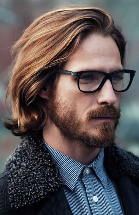 Mens Long Hairstyles With Glasses