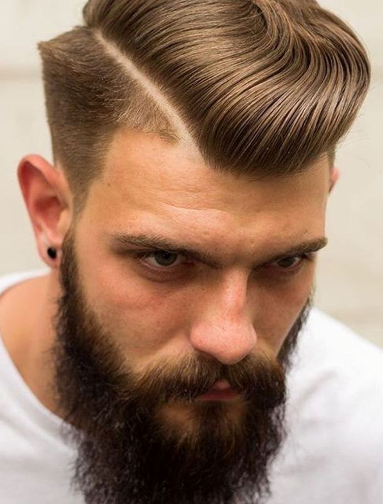 High Side Part Combover Haircut