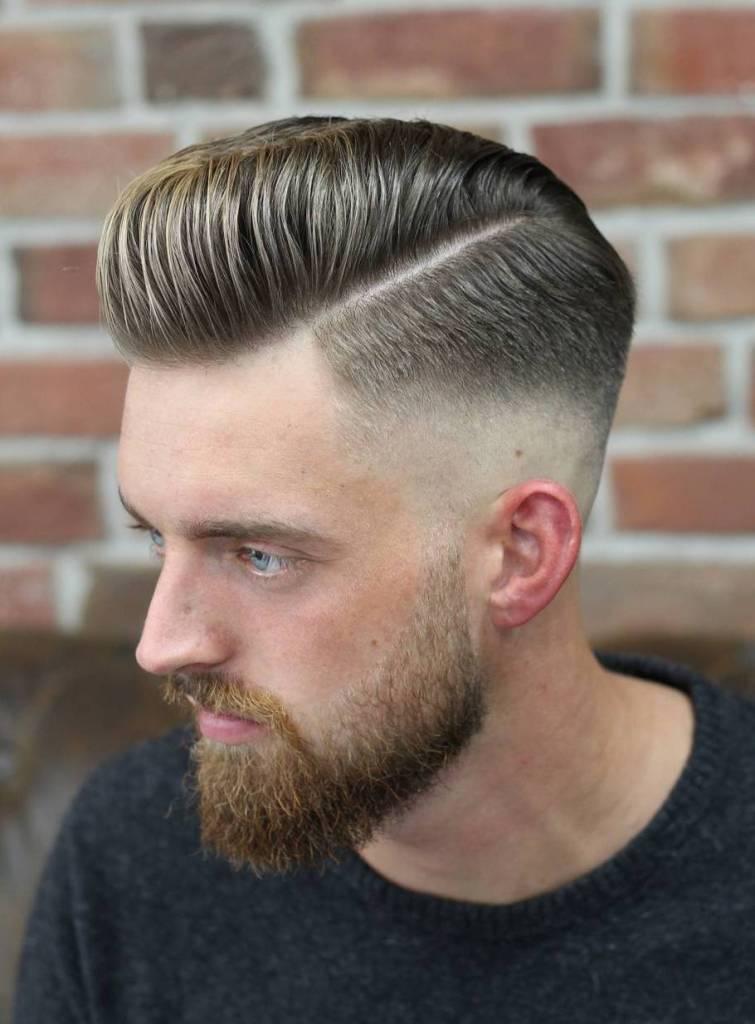 Hard Side Line Pompadour Haircut