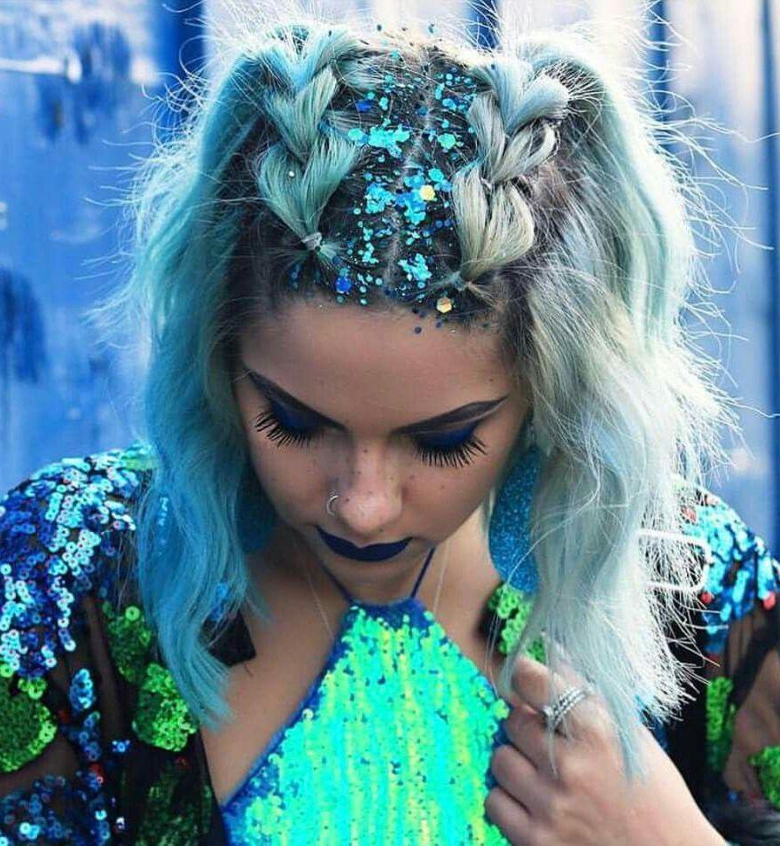 Pastel Blue Double Braid