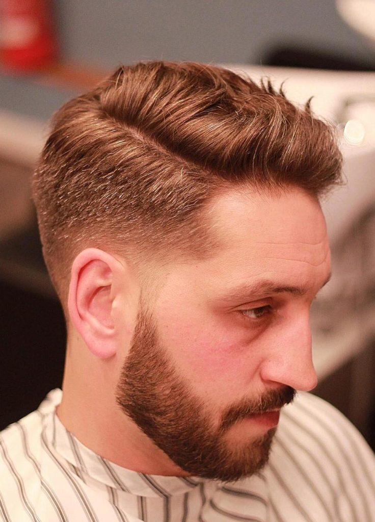 Taper Side Part Hairstyle