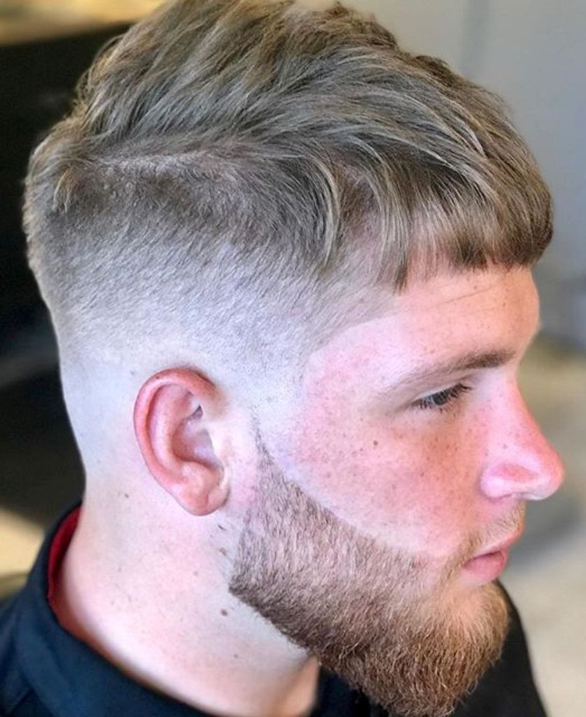 Hard Fade Messy Hairstyle
