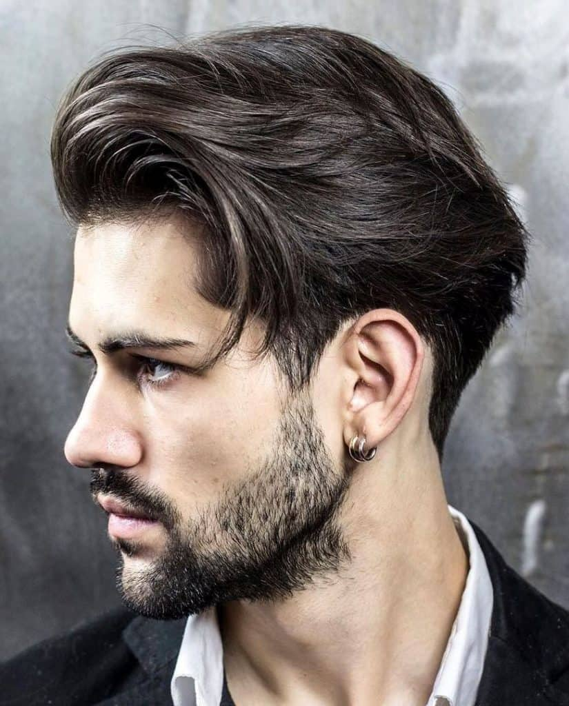 Medium Side Swept Haircut