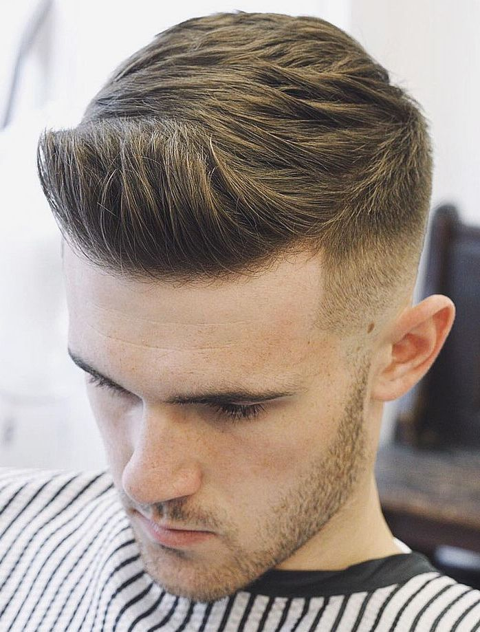 Skin Faded Quiff Hairstyle