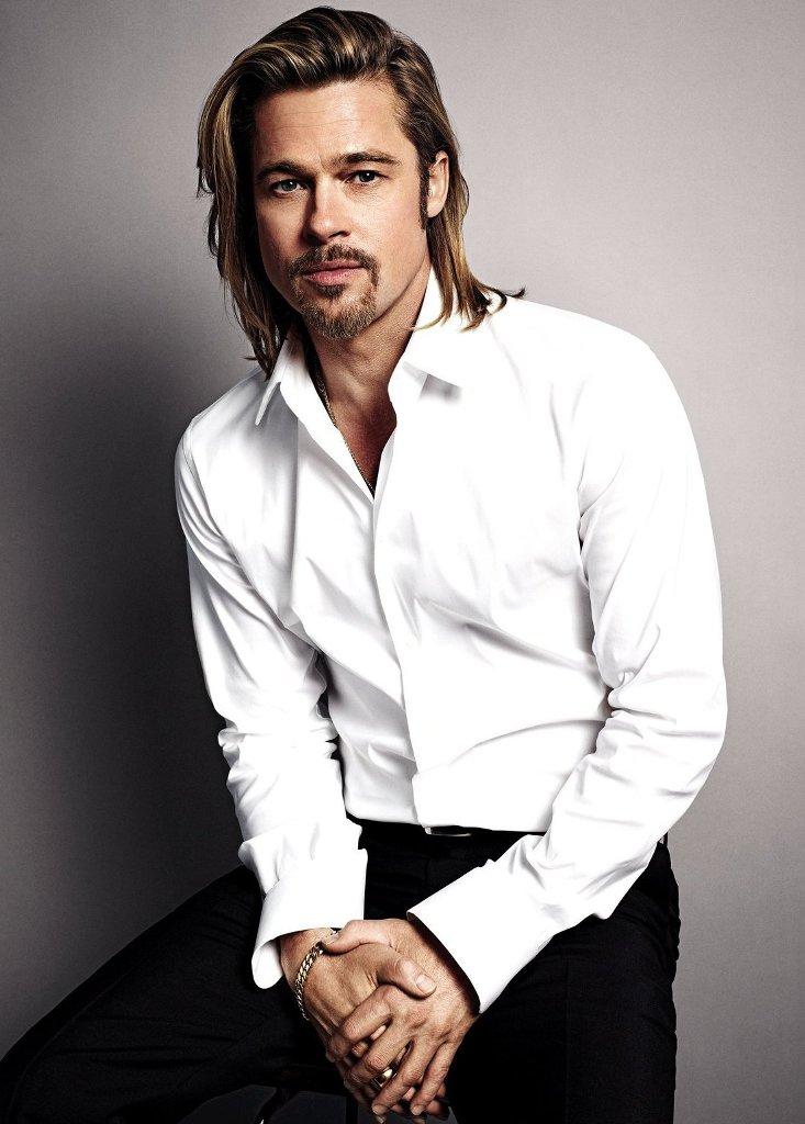 Brad Pitt Long Hipster Hair