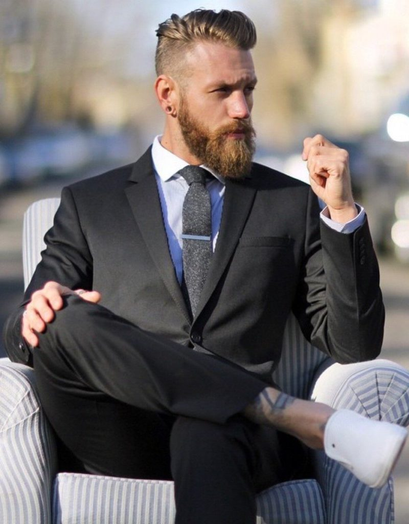 Mens Hairstyle With Beard