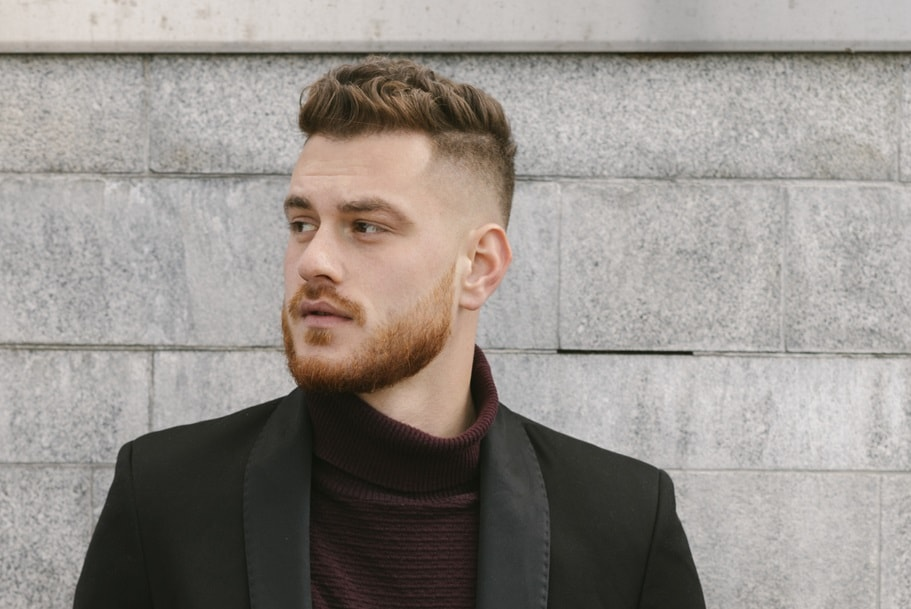 business hairstyle with bald fade