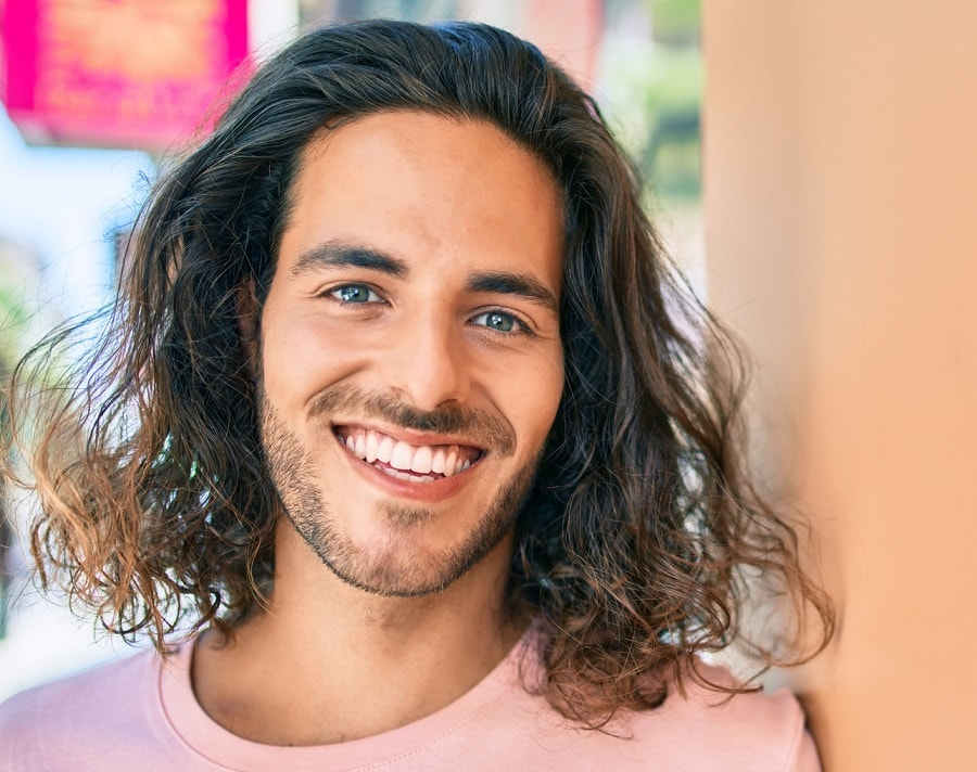 guy with long thick hair