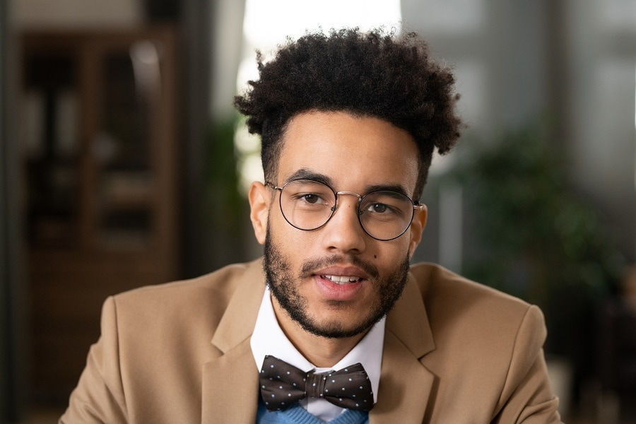 black guy with thick afro hair