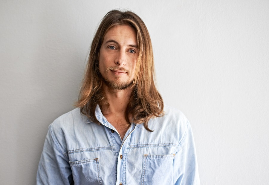 guy with long blonde hair