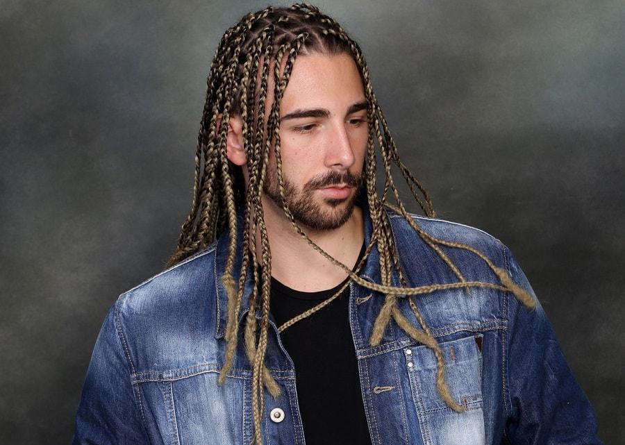 long hair braids for men