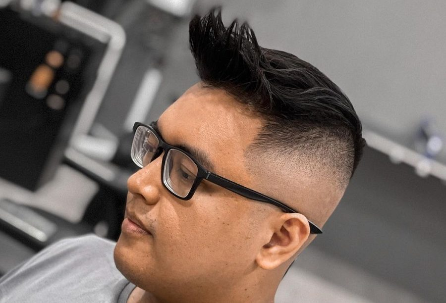 quiff with bald fade