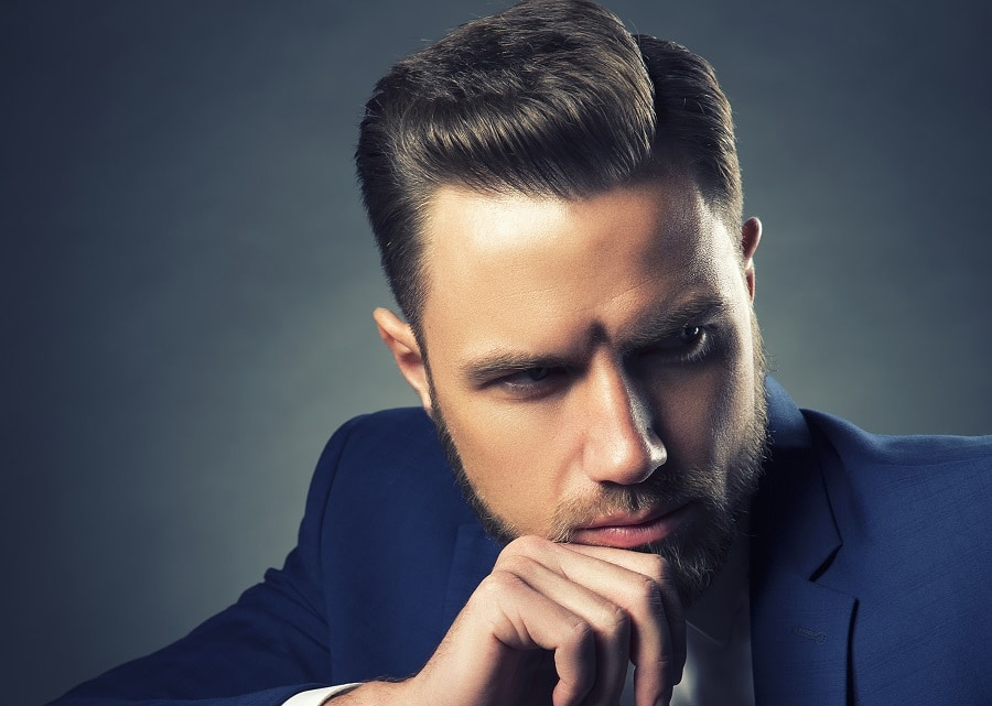 businessman hairstyle with side part