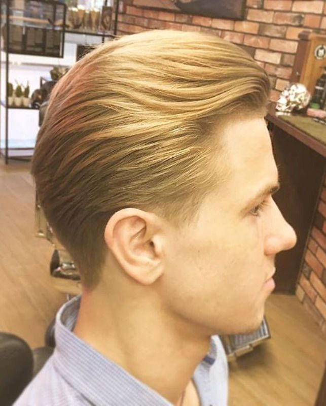 Old School Comb Over Medium Hairstyle
