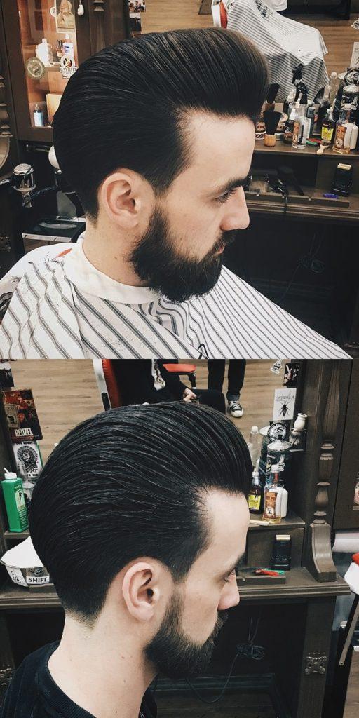 Comb Back High Pompadour