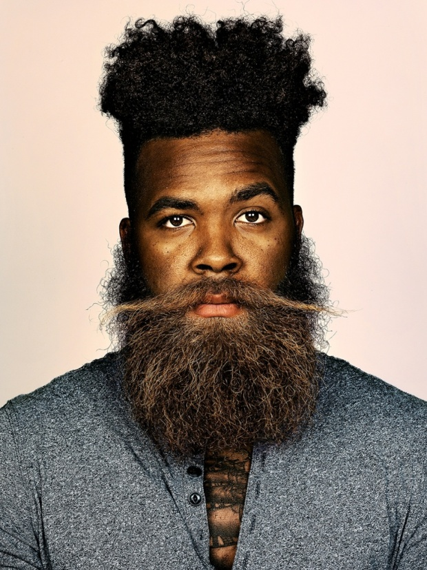 Hipster Hairstyle with Full Beard