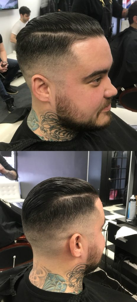 Side Parting Slick Back Hairstyle