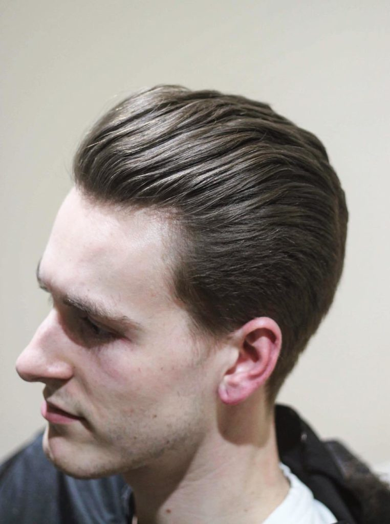 Texture Waves Slick Back Hairstyle