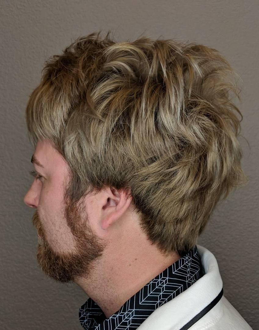 Blonde Hair Inspired by Rod Stewart