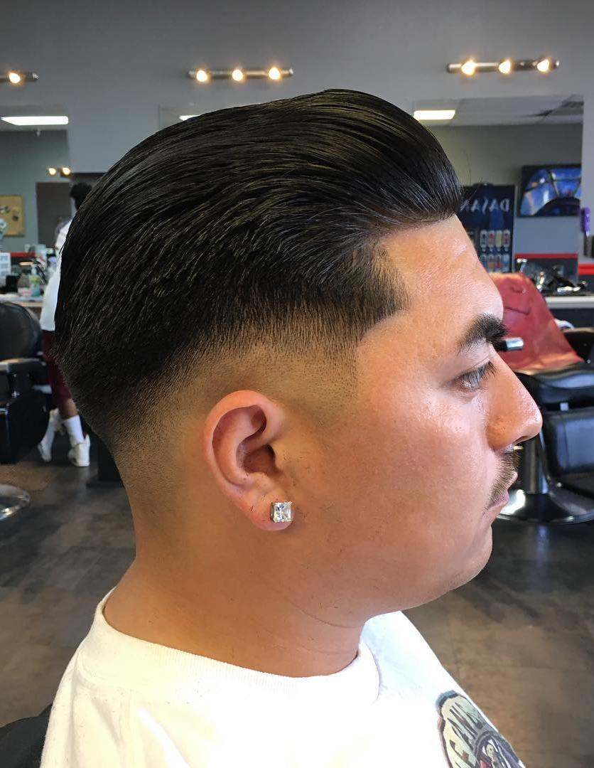 Low Skin Fade Slick Back