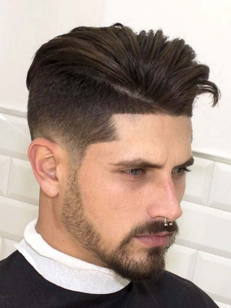 Fade with Faux Hawk Hairstyle