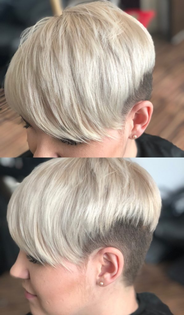 Side Shaved Pixie Cut