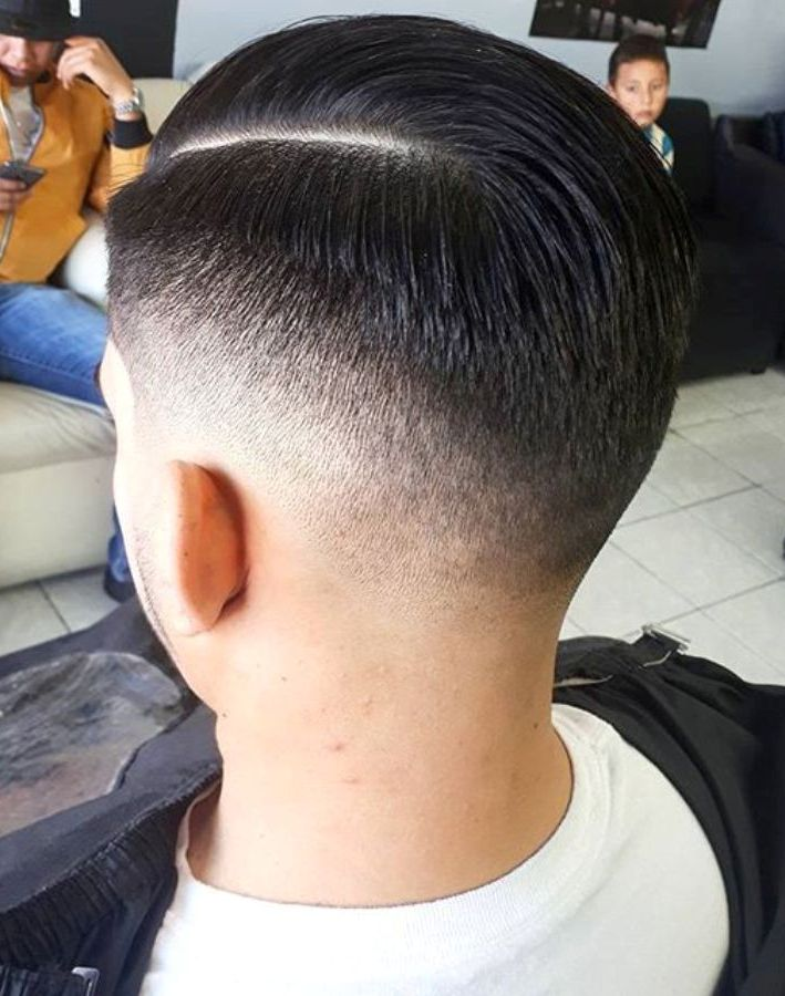 Hard Fade Side Part Hairstyle