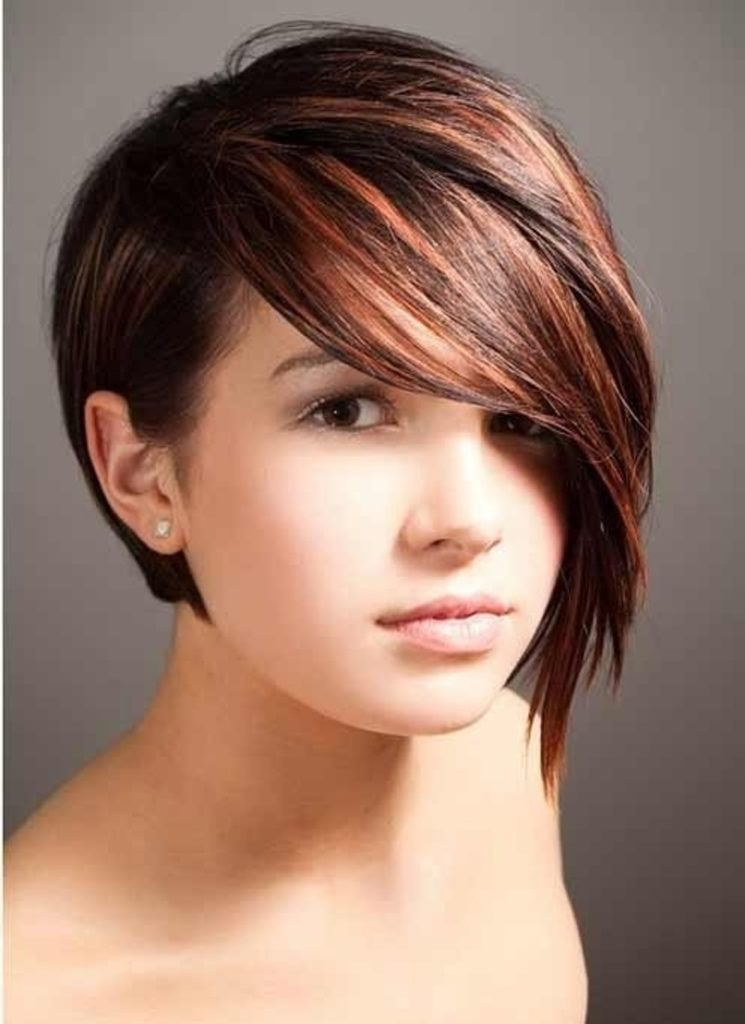 Short Haircut With Long Side Bangs