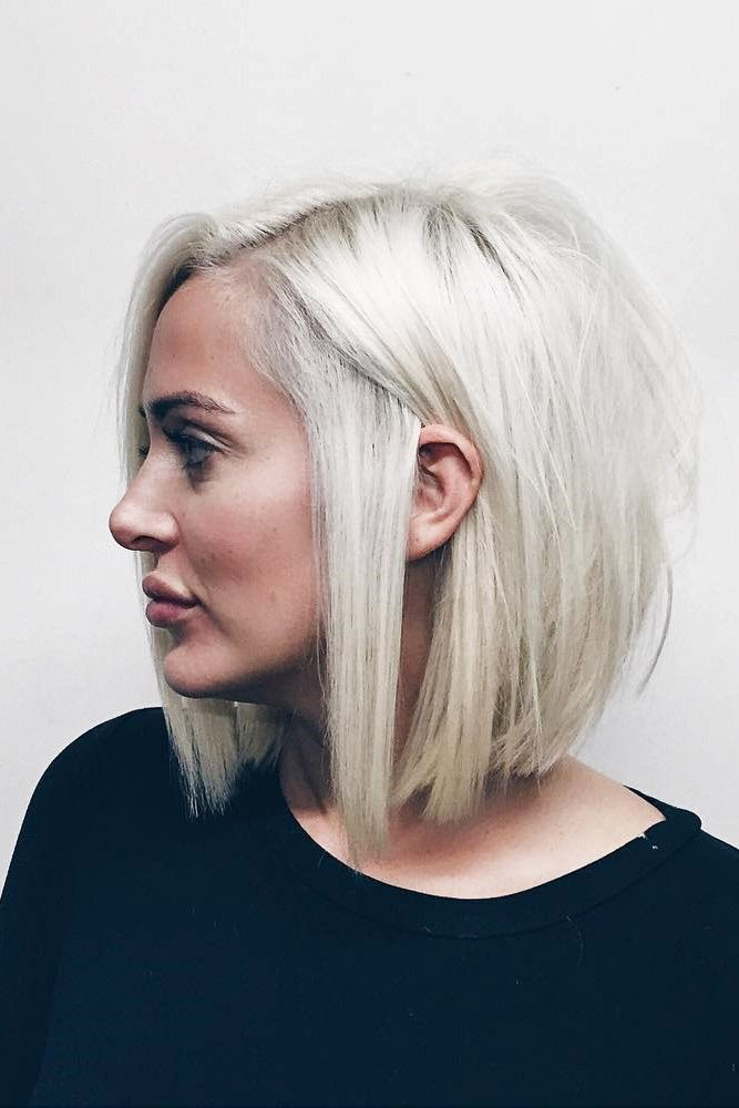 Silver Side Parting Short Hairstyle