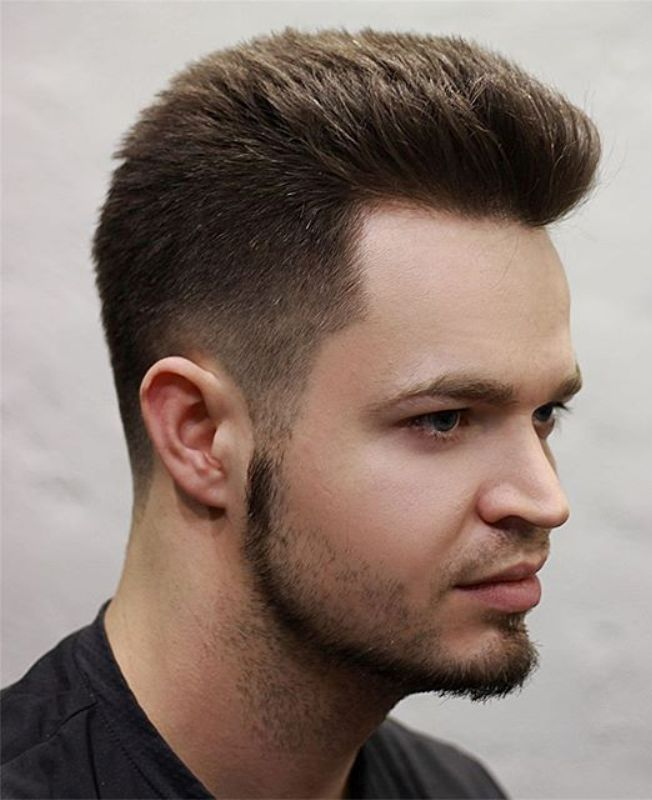 Spiky Short Hairstyle with Shape Beard