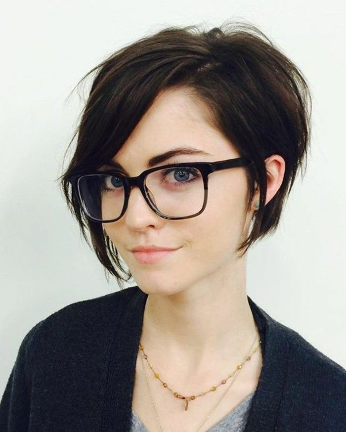 Fringe Short Hair With Glasses