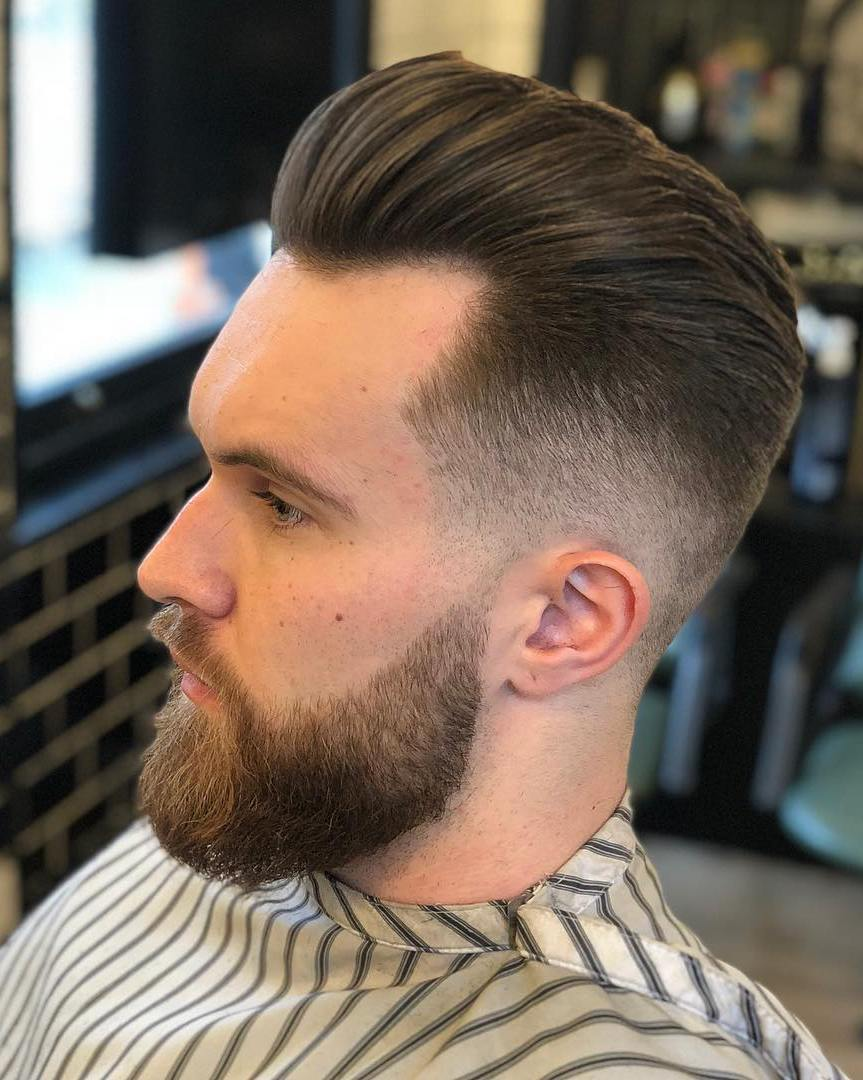 slick hair style 17 mens slick back hairstyles amp haircut ideas 2222 | 9 Low Faded Pompadour Slick Back Hair