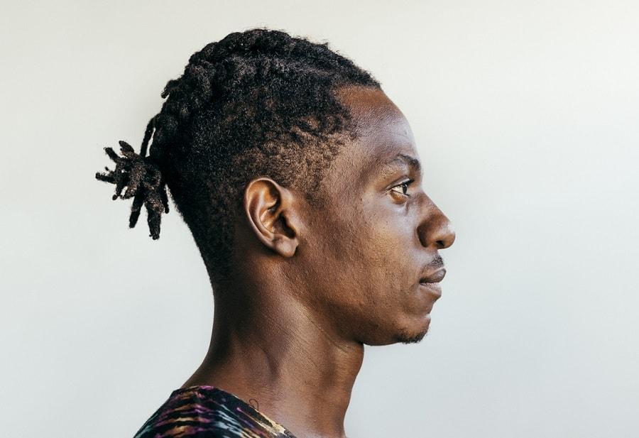 black man with braids
