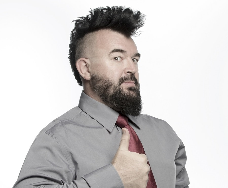 wavy mohawk with shaved side