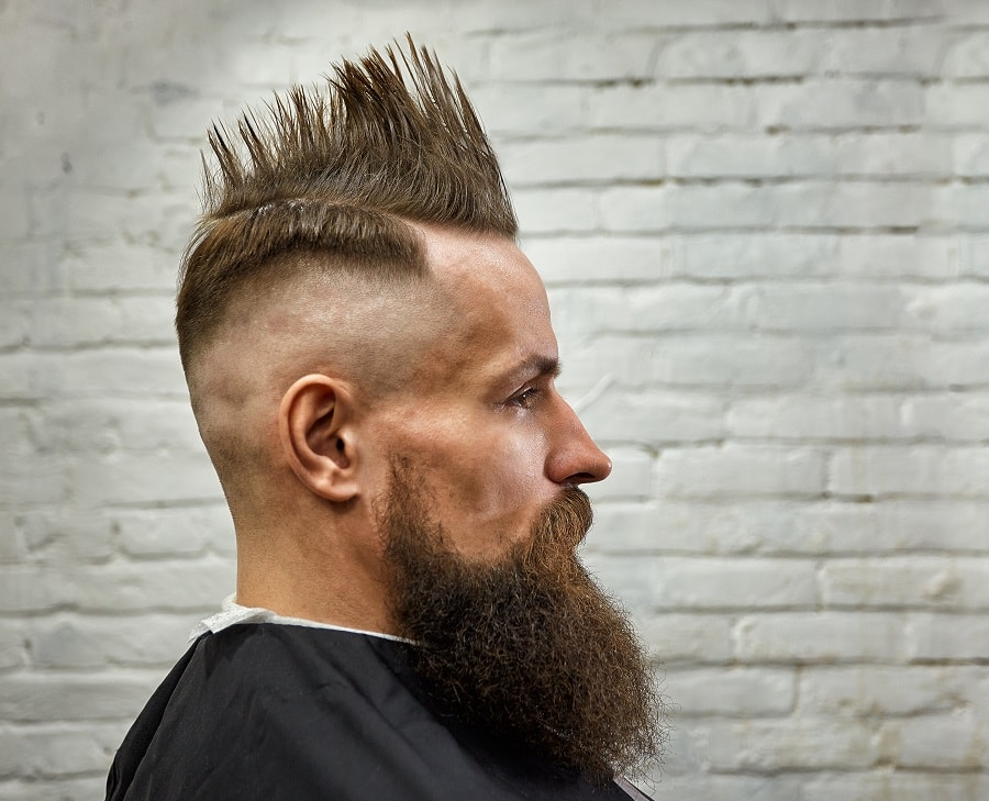spiky mohawk haircut