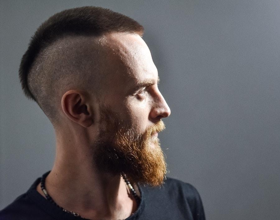 mens short mohawk hairstyle