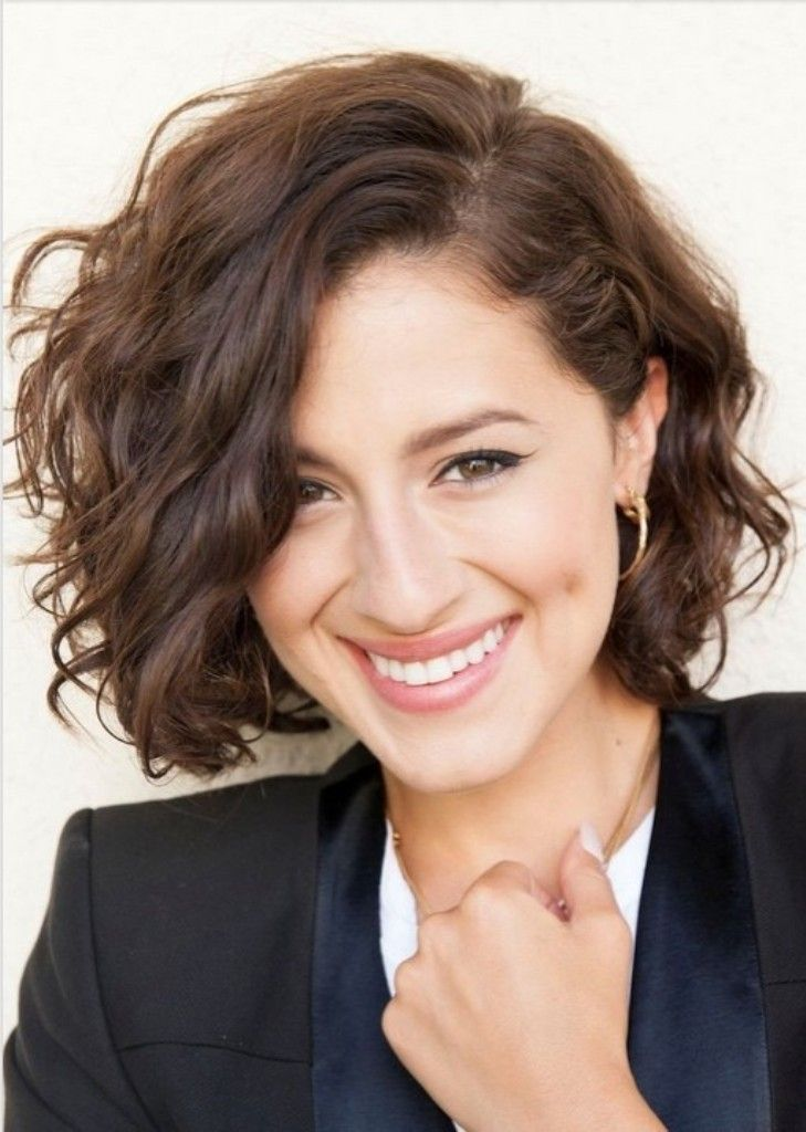 Short Curly Wavy Hairstyle