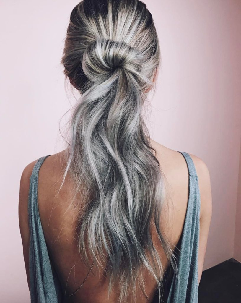 Smoky Silver - Hair Colors For Spring