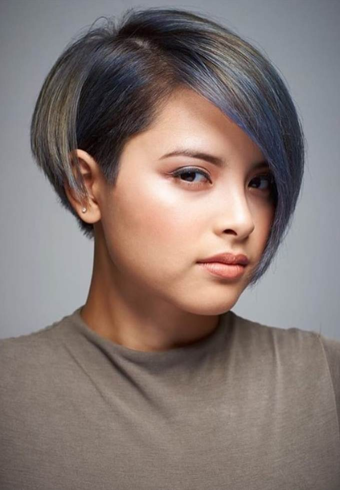 Undercut Side Bangs Hairstyle