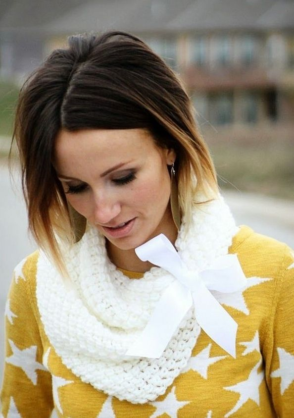 Center Part Short Ombre Hairstyle