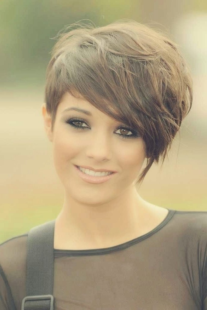 Short Side Bangs Hairstyle