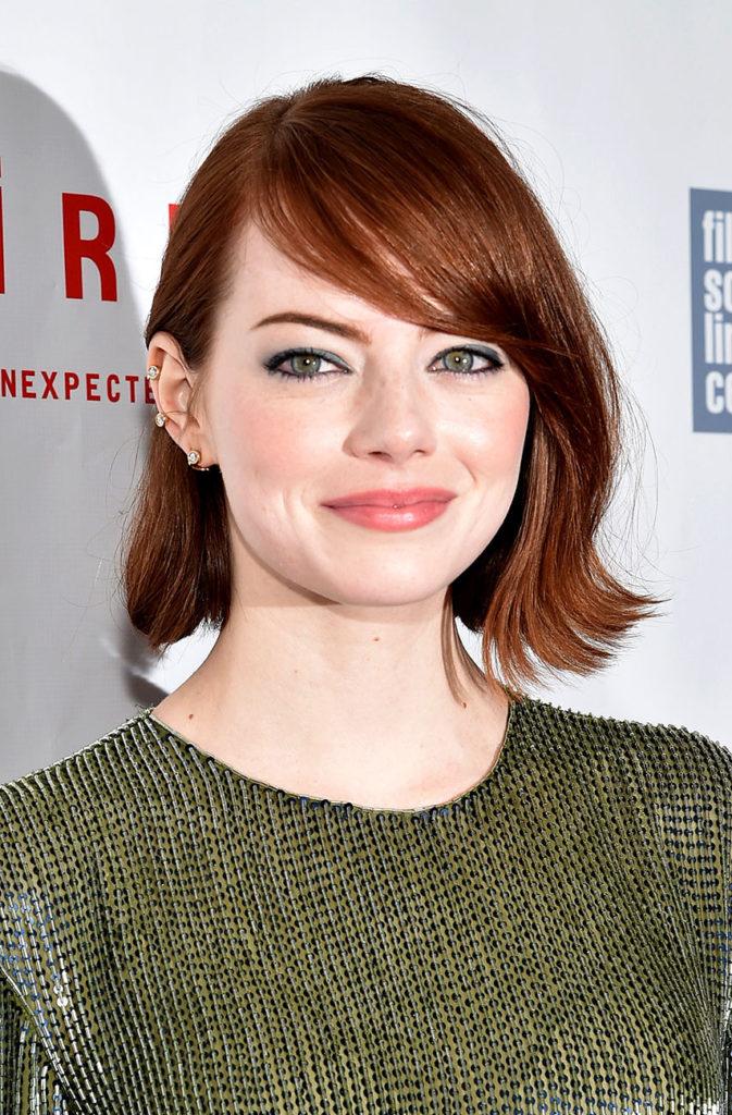 Side Bang Layered Short Hairstyle