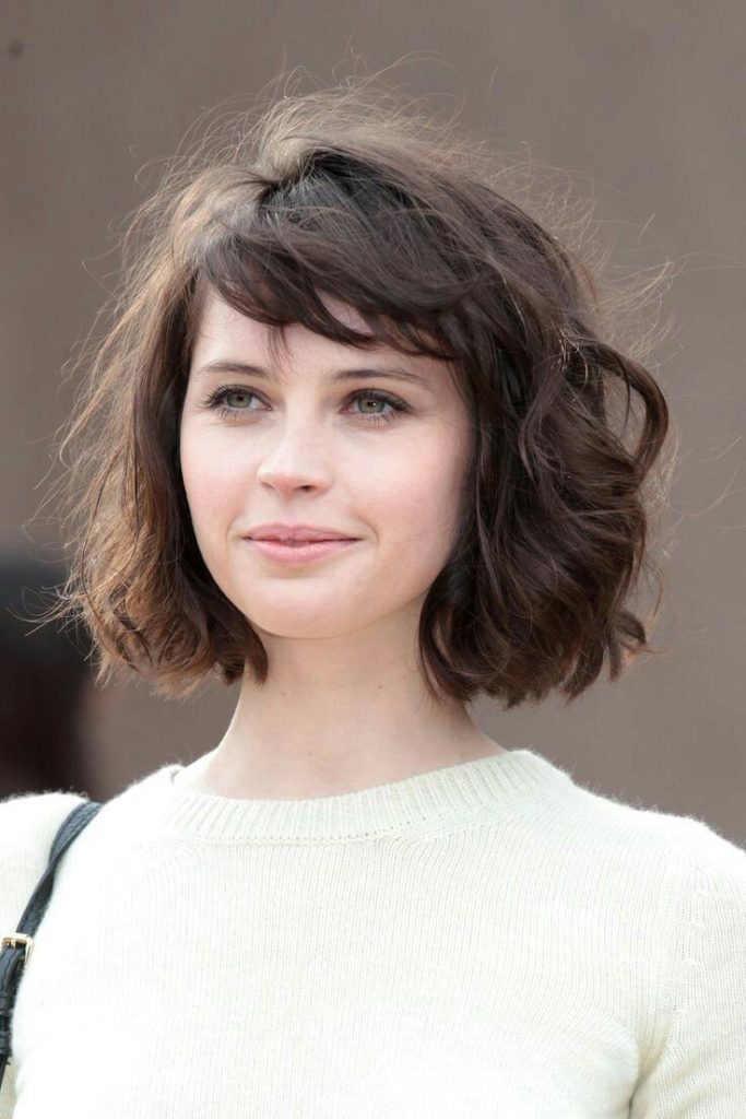 Wavy Bangs Short Hairstyle