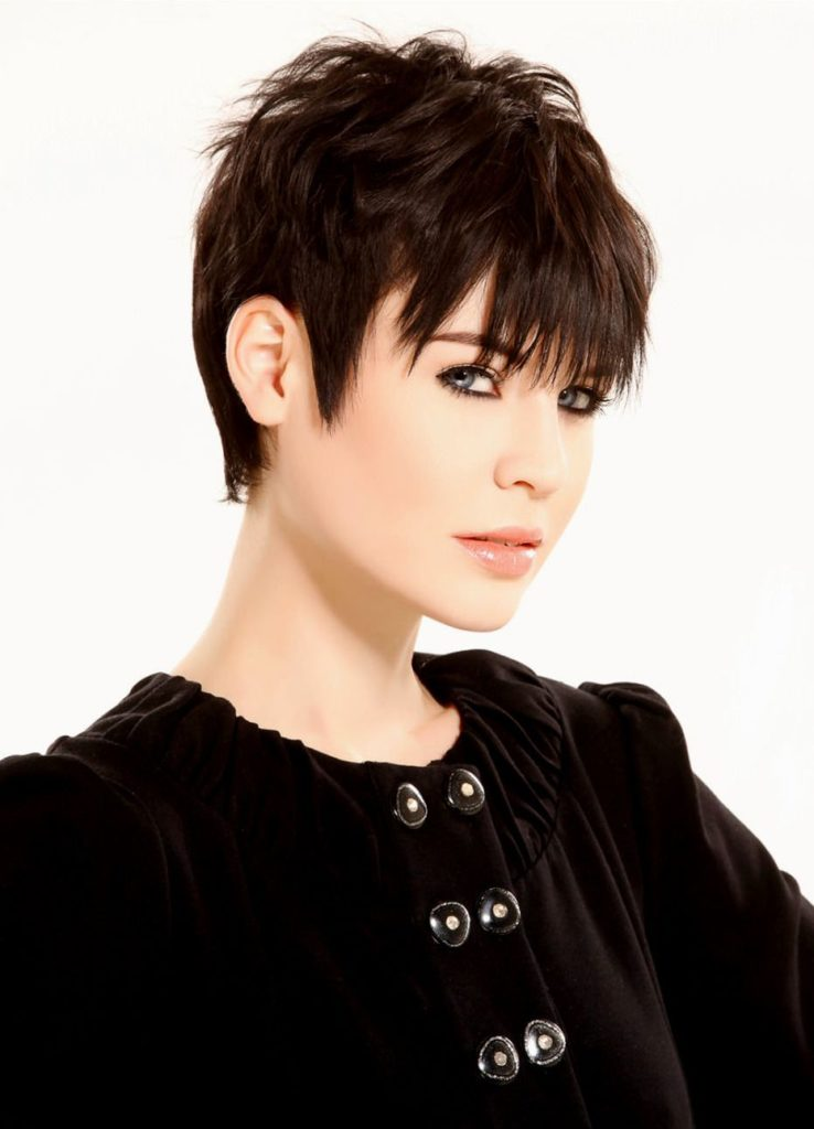 Funky Short Hairstyle for Fine Hair