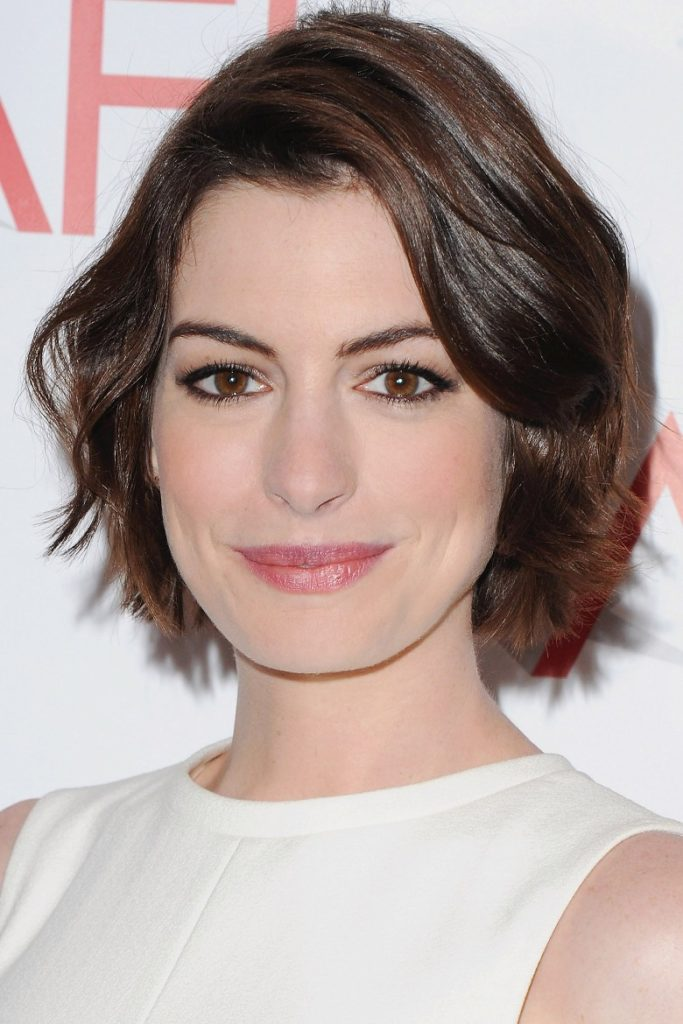 Side Swept Layered Short Hairstyle